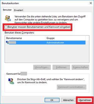 Entfernen Sie Ihr Windows 10 Kennwort